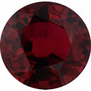 Top Gem Ruby Loose Gem in Round Cut,  Vibrant Red, 5.73 mm, 1.16 Carats