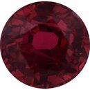 One-of-a-Kind Ruby Loose Gem in Round Cut, Vibrant Purple Red, 5.7 mm, 1.23 Carats