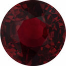 Attractive Ruby Loose Gem in Round Cut, Vibrant Red, 6.02 mm, 1.2 Carats