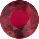 Super Pretty Ruby Loose Gem in Round Cut, Vibrant Red, 6.14 mm, 1.12 Carats