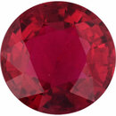 Fabulous Ruby Loose Gem in Round Cut, Vibrant Red, 6.23 mm, 1.3 Carats
