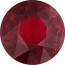 Genuine Ruby Loose Gem in Round Cut, Vibrant Purple Red, 6.31 mm, 1.51 Carats