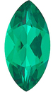 Grade GEM CHATHAM CREATED EMERALD Marquise Cut Gems  - Calibrated