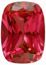 Grade GEM CHATHAM CREATED PADPARADSCHA SAPPHIRE Antique Cushion Cut Gems  - Calibrated