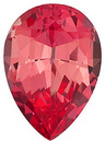 Grade GEM CHATHAM CREATED PADPARADSCHA SAPPHIRE Pear Cut Gems  - Calibrated