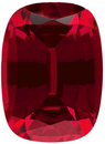 Grade GEM CHATHAM CREATED RUBY Antique Cushion Cut