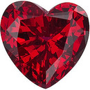 Grade GEM CHATHAM CREATED RUBY Heart Cut Gems