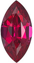 Grade GEM CHATHAM CREATED RUBY Marquise Cut Gems