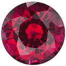 Grade GEM CHATHAM CREATED RUBY Round Cut Gems