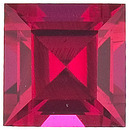 Grade GEM CHATHAM CREATED RUBY Square Step Cut Gems