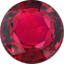 Bargain Priced Ruby Loose Gem in Round Cut, Vibrant Red, 6.36 mm, 1.47 Carats