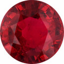 One-of-a-Kind Ruby Loose Gem in Round Cut, Vibrant Red, 6.21 mm, 1.26 Carats