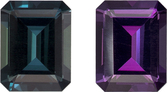 Burgundy Eggplant to Teal Alexandrite Genuine Brazilian Gem in Emerald Cut, 6.1 x 4.7 mm, 0.81 Carats