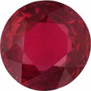 Excellent Ruby Loose Gem in Round Cut, Vibrant Red, 6.62 mm, 1.26 Carats