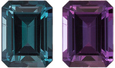 Hard to Find Alexandrite Gem in Emerald Cut, Super 100% Color Change, 5.5 x 4.2 mm, 0.63 carats