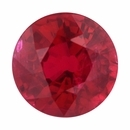 Eye-Catching Ruby Loose Gem in Round Cut, Vibrant Red, 5.92 mm, 1.08 Carats