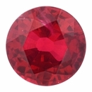 Special Buy On Ruby Loose Gem in Round Cut, Vibrant Red, 6.32 mm, 1.29 Carats