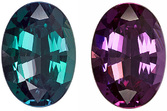 GIA Cert with Alexandrite Gem in Oval Cut, 100% Color Change, 7.8 x 5.5 mm, 1.06 carats