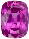 Excellent Clarity on Rich Pink Sapphire, 7.6 x 5.7 mm, Cushion Cut, 1.68 carats