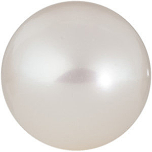 Grade AAA - Near Round Half Drilled Genuine White Freshwater Pearl 4.00 mm to 10.00 mm