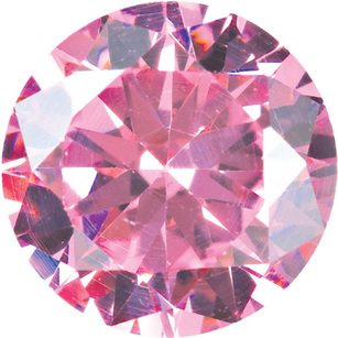 PINK CUBIC ZIRCONIA Round Cut Gems - Calibrated