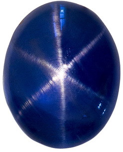 Strong Centered Blue Star Sapphire Loose Gemstone in Rich Deep Blue Color in 8.5 x 6.7 mm, 3.63 carats