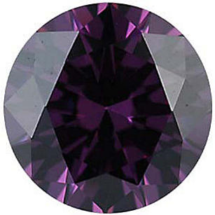 Imitation Amethyst Round Cut Gems