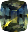 Unusual Yellow & Teal Blue Loose Sapphire Gemstone, Unheated with GIA in Cushion Cut, 7.22 x 6.26 x 3.8 mm, 1.58 carats - SOLD