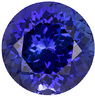 Amazing Deep Color in Tanzanite Round Cut, Rich Blue, 8 mm, 2.31 carats