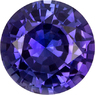 Vibrant Purple Sapphire Ceylon Origin Genuine Gem in Round Cut, 6 mm, 1.01 Carats