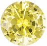 Ffiery Yellow Sapphire from Ceylon Natural Gemstone in Round Cut, 8.3 mm, 2.57 Carats