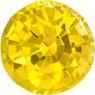 Round Loose Yellow Sapphire Loose Gem in Round Cut, Pure Rich Yellow Color in 6.0 mm, 1.13 Carats