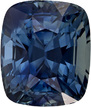 Teal Blue Colored Green Sapphire Gem in Cushion Cut, Unheated GIA, 9.05 x 7.67 x 6.49 mm, 4.18 carats - SOLD