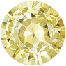Bright and Lively Yellow Diamond-Like Sapphire from Ceylon, Round cut, 1.48 carats