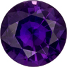 Vivid Purple Loose Sapphire Round Cut Gemstone, Unheated with GIT Certificate, 6.73 x 3.85 mm, 1.25 carats