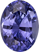 Violet Purple Blue Sapphire Gem in Oval Cut, 10.2 x 7.6 mm, 3.15 carats