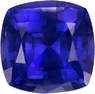 Unheated Violet Purple GIA Certed Sapphire Gem in Cushion Cut, 6.05 x 3.85 mm, 1.22 carats