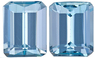 Intense Rich Blue Brazilian Blue Aquamarine Matched Gems  - Great Color for the Size, Emerald Cut, 4.01 carats - SOLD