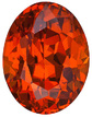 Brilliant Rich Orange Spessartite Garnet Genuine Gem from Mozambique, Oval Cut, 2.46 carats - SOLD