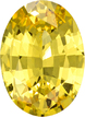 No Heat Yellow Sapphire Gem in Oval Cut, Intense Color with GIA Cerrt, 8.41 x 6.16 x 3.42 mm, 1.41 carats