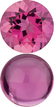 PINK TOURMALINE Round Cut Gems  - Calibrated