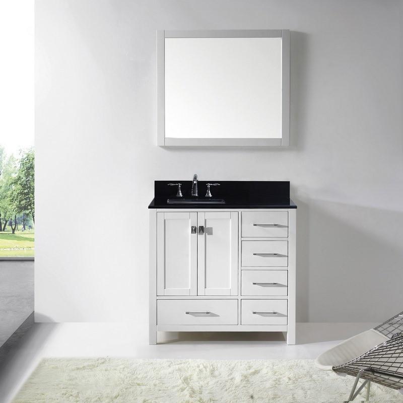 """Virtu USA - Caroline Avenue 36"""" Single Bathroom Vanity in ..."""