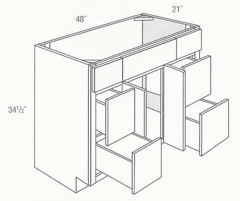 JSI Cabinetry Dover Bath Cabinet V4821D DOV