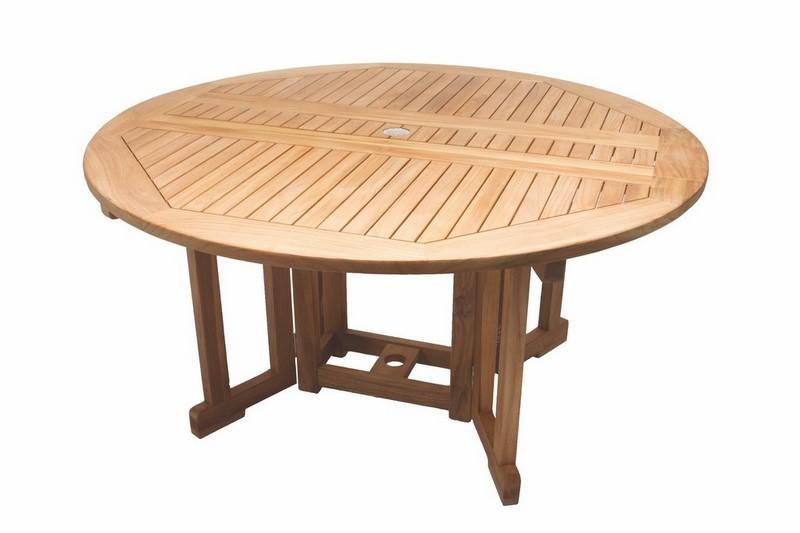 Royal Teak - 60 Inch Drop Leaf Table Round - DLT5