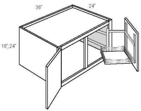 JSI Cabinetry Dover Kitchen Cabinet - W361824APPPULL-DOV