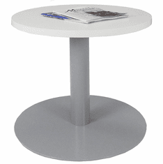 """24"""" Round Metal Disc Base Waiting Room Table"""