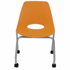 300 Lbs. Capacity Molded Plastic Classroom Chair w/ Wheels