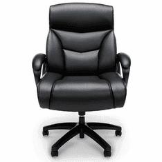 350 Lbs. Capacity Big & Tall Black Leather Executive Chair