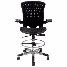 "350 Lbs. Capacity ErgoFlex All-Mesh Office Stool - 27""-30"" Seat Ht."