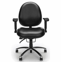 400 Lbs. Capacity Multi-Shift Big & Tall Ergonomic Chair in Black Vinyl